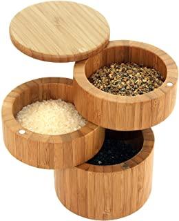 Caja de bambú para guardar sal